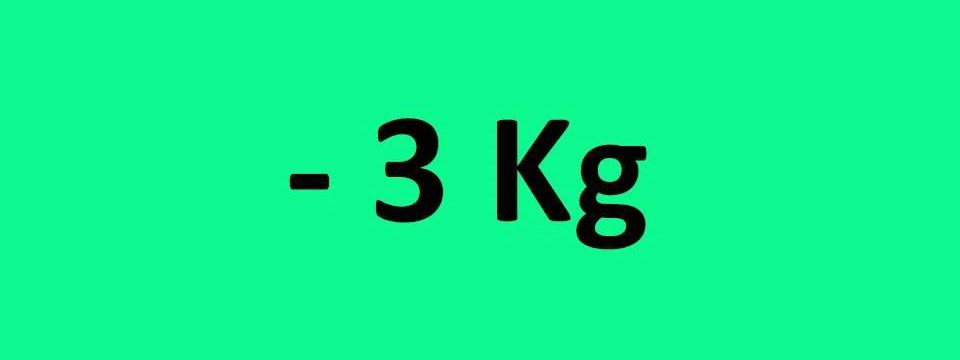 - 3 kg