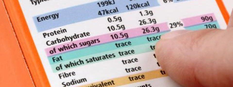 le etichette nutrizionali